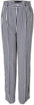 Ralph Lauren Black Label Navy/Cream Anchor Striped Pants