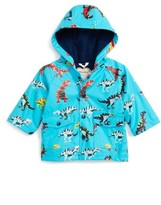 Hatley Infant Boy's Roaring T-Rex Hooded Raincoat