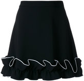 Moschino frill hem skirt - women - Polyester/Triacetate - 40