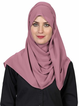 World Of Shawls World of Scarfs Soft Chiffon Hijab Scarves Shawls Wraps for Wedding Evening Party Special Occasions Big Size 85 x 180 Cms (Petrol Green)