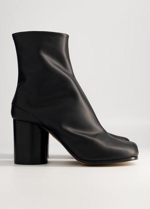 Maison Margiela Women's Tabi Boot in Black, Size 35.5 | Leather
