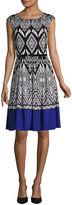 Tiana B Cap Sleeve Fit & Flare Dress