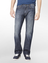 Calvin Klein Jeans Straight Leg Faded Dark Wash Denim