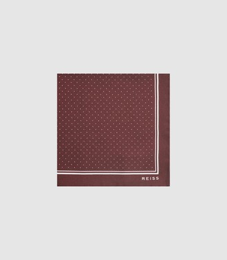 Reiss JUPITER SILK POCKET SQUARE Bordeaux