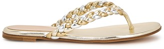 Gianvito Rossi Tropea metallic leather sandals