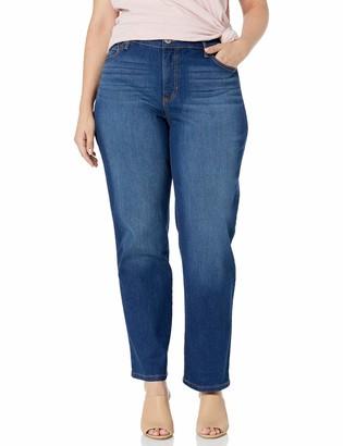 Bandolino Women's Plus Size Mandie Signature Fit 5 Pocket Jean