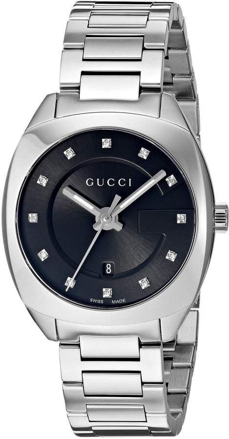 Gucci Women's Swiss Quartz Stainless Steel Dress Watch, Color:Silver-Toned (Model: YA142503)