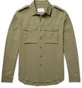 Sandro - Slim-fit Slub Cotton-twill Shirt