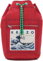 Kenzo wave patch backpack