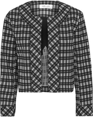 Diane von Furstenberg Lucia Checked Woven Jacket