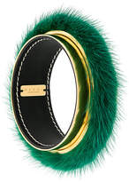 Marni fur cuff bracelet