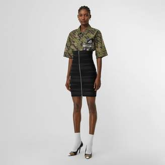 Burberry Stretch Zip-front Bandage Skirt