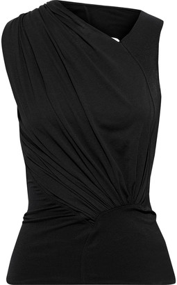 Rick Owens Lilies Open-back Draped Stretch-jersey Top