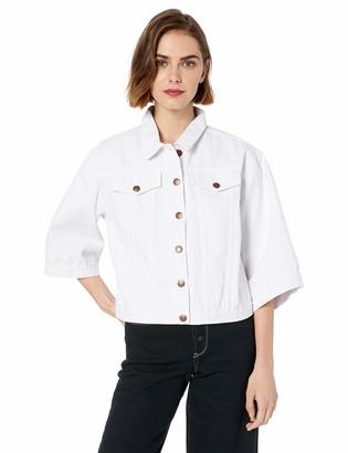 BCBGeneration Women's Wide Sleeve Denim Trucker Jacket