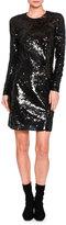 Stella McCartney Katie Long-Sleeve Sequined Dress, Black