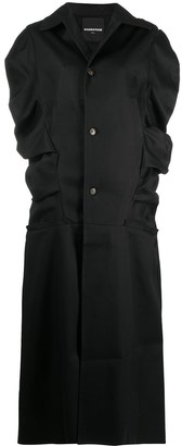 aganovich Ruffle-Trim Long Coat