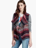 Lucky Brand Stripe Sweater Wrap