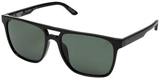 Spy Optic Czar (Black/Happy Gray Green Polar) Athletic Performance Sport Sunglasses