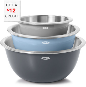 OXO Good Grips $3Pc Stainless Steel Mixing Bowl Set With $5 Credit