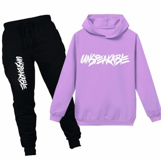 Pxfx Kids Boys Girls Unspeakable Hoodies & Pants Clothing Sets Long Sleeve Hooded Pullover Tops & Trousers Outfits