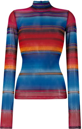 House of Holland striped turtle neck top