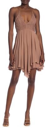 Mustard Seed Asymmetrical Lace Dress