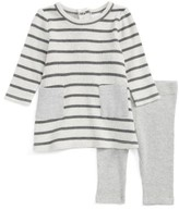 Nordstrom Infant Girl's Stripe Dress & Leggings Set