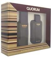 Antonio Puig Quorum Men Giftset (Eau De Toilette Spray, After Shave Lotion)