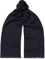 Tom Ford - Patterned Wool And Silk-blend Scarf