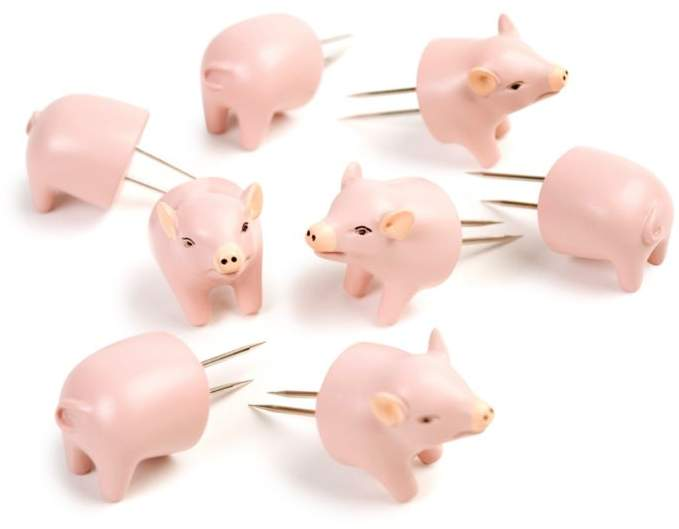 Charcoal Companion Pig Corn Holders, Set of 4
