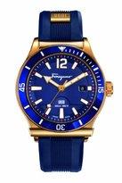 Salvatore Ferragamo Men's FF3120014 1898 Sport Analog Swiss Quartz Blue and Gold-Tone Watch