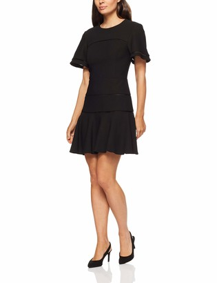 Finders Keepers findersKEEPERS Women's Immortal Crew Neck Short Sleeve Fit and Flare Mini Dress
