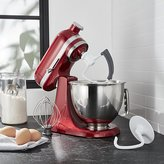 Crate & Barrel KitchenAid Artisan Mini Candy Apple Red Stand Mixer with Flex Edge Beater