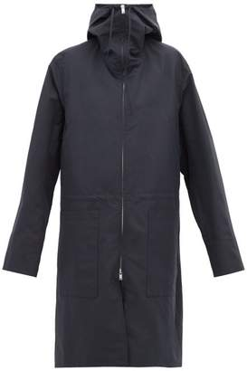 Jil Sander Hooded Technical Raincoat - Womens - Navy