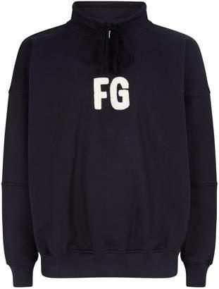 Fear Of God Logo Mock-Neck Sweatshirt