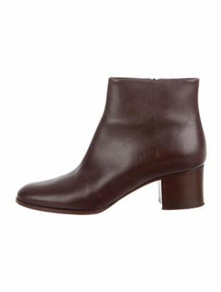Chanel Interlocking CC Logo Leather Boots Brown
