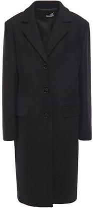 Love Moschino Logo-appliqued Wool-blend Felt Coat