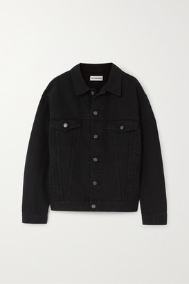 Balenciaga Oversized Crystal-embellished Denim Jacket - Black