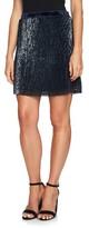 1 STATE Women's 1.state Sequin & Velvet Miniskirt