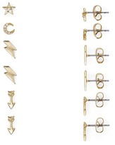 Aqua Far Out Stud Earrings, Set of 3 Pairs