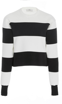 Tibi Aprs Ski Striped Pullover