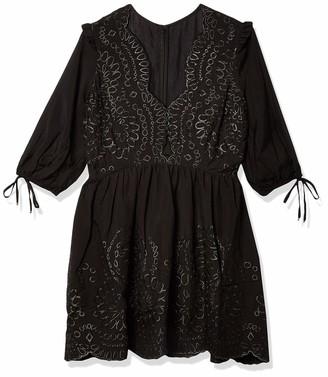 Keepsake Women's Short Sleeve Without Me V-Neck Mini Dress