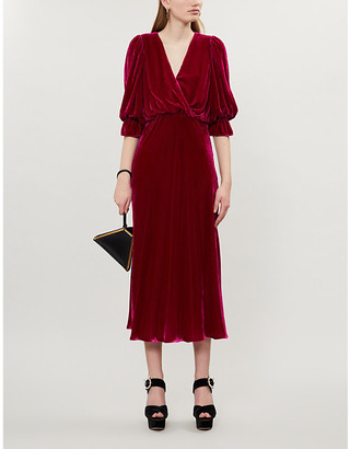 Ghost Gracie V-neck velvet dress