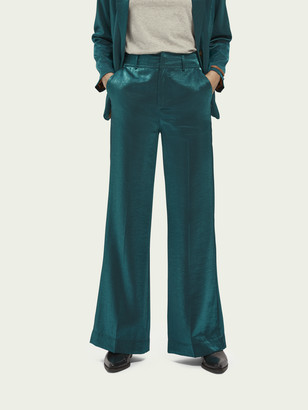 Scotch & Soda High waist wide leg metallic pants | Women