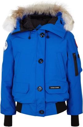 Canada Goose PBI Chilliwack Blue Fur-trimmed Jacket