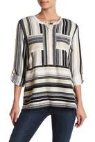 Romeo & Juliet Couture Roll Sleeve Tunic Blouse