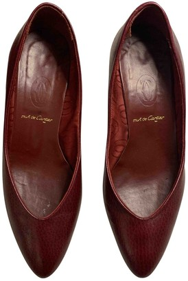 Cartier Burgundy Leather Heels
