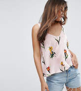 Asos Tall Swing Satin Cami In Pretty Floral