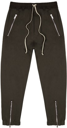 Rick Owens Dark brown cotton sweatpants