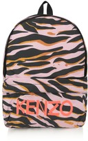 Kenzo Girls Pink Tiger Stripe Backpack